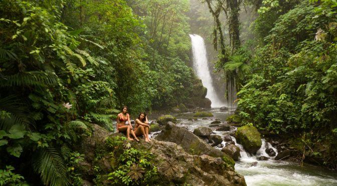 La Paz Waterfall at the Peace Lodge Waterfall Garden in Costa Rica