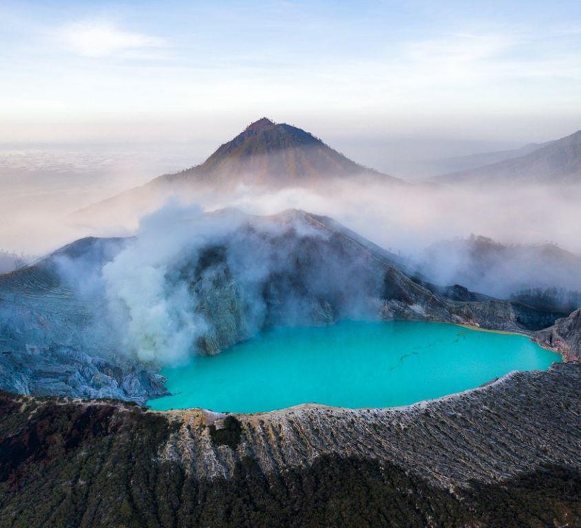 Kawah Ijen/Mount Ijen Crater Drone