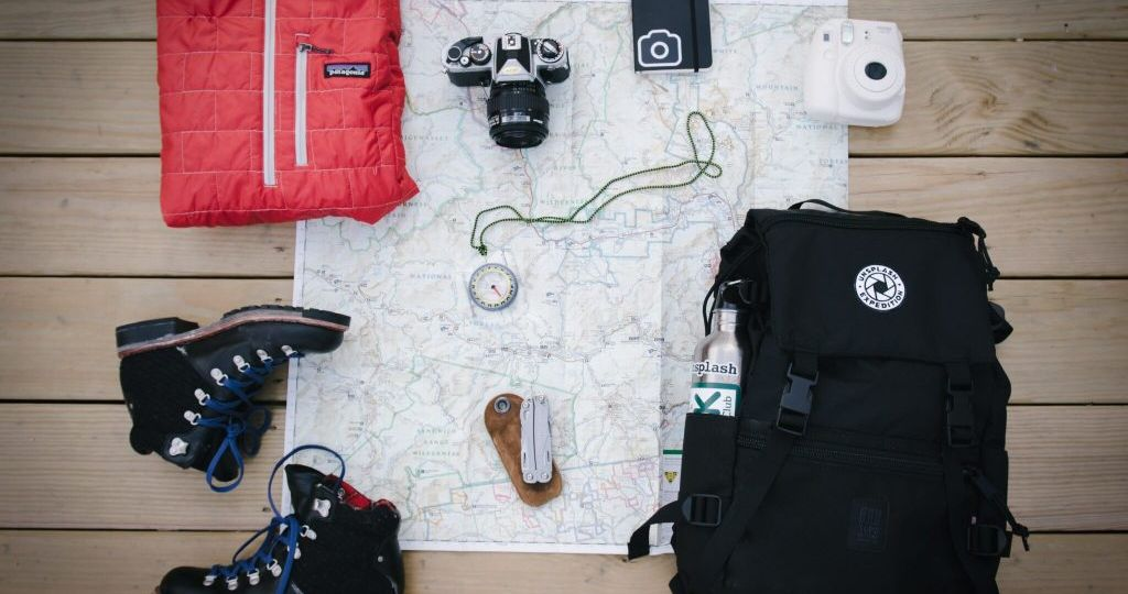 Travel Essentials Packing Layout